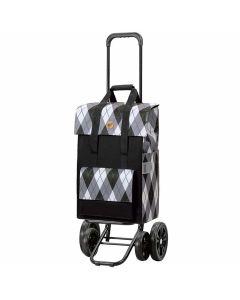 poussette-de-marché-andersen-4-roues-ine-gris-sac-carreaux