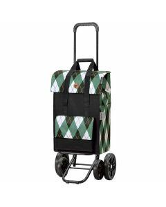 poussette-de-marché-andersen-4-roues-ine-vert-sac-carreaux