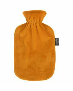 bouillotte-à-eau-chaude-fashy-2-litres-housse-douce-velours-couleur-ocre