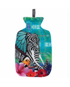 bouillotte-à-eau-chaude-fashy-avec-housse-exotique-dessin-éléphant-2-litres