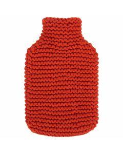 fashy-bouillotte-à-eau-chaude-avec-housse-tricot-rouge-2L