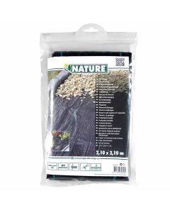 Toile-de-Paillage-Paysage-noir-Anti-Mauvaises-Herbes-2,10-m-x-2,10-m