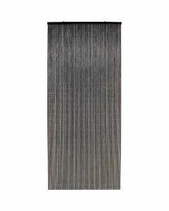 Rideau de Porte en Bambou, Noir - Différentes Dimensions