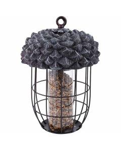 Mangeoire-oiseaux-avec-silo-forme-de-gland