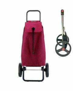 stroptas-imx-rolser-boodschappenwagen-grote-wielen-trolley-fuchsia-tas-met-zwarte-print-opvouwbaar-frame-ergonomisch-praktisch