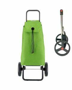 stroptas-imx-rolser-boodschappenwagen-grote-wielen-trolley-groene-tas-met-zwarte-print-opvouwbaar-frame-ergonomisch-praktisch