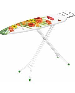Table-à-repasser-compacte-Gimi-Junior-housse-coton-fleurs-gerbéras
