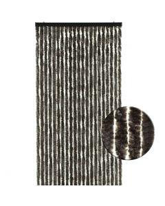 Kattenstaart-vliegengordijn-bruin