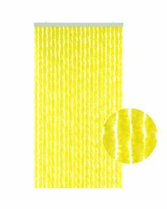 Rideau-de-porte-chenille-jaune-90x220cm