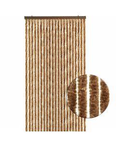 Luxe-kattenstaart-gordijn-roestbruin