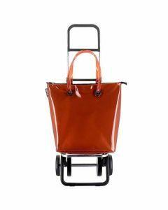 Rolser-Mini-Bag-Plus-chariot-de-course-pliable-4-roues-sac-orange-trendy