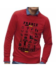 Rode-sweater-België-Checklist-France