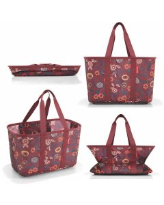 Reisenthel boodschappentas mini maxi basket berry dark ruby