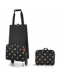 Reisenthel-trolley-pliable-Dots-pois-noir